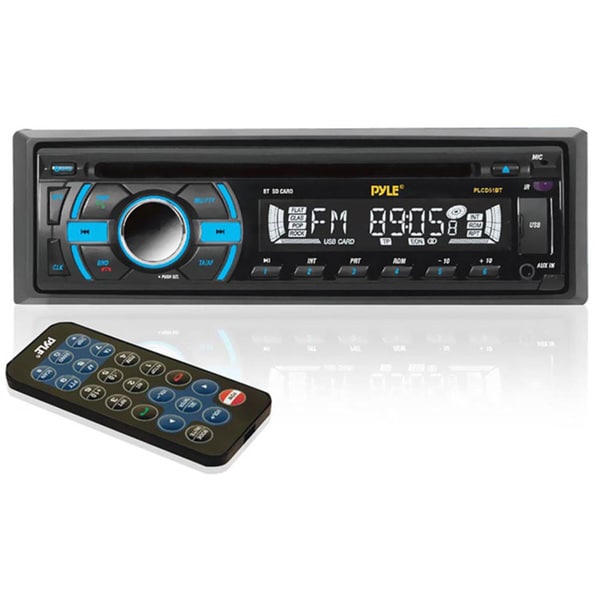 Pyle In-Dash Bluetooth Receiver with USB/SD Memory Slots, AUX Input for MP3 Playback & AM/FM Radio