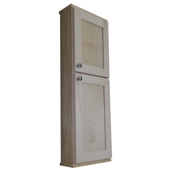 Shop shaker series 42 inch unfinished on the wall cabinet - Unfinished shaker bathroom vanity ...