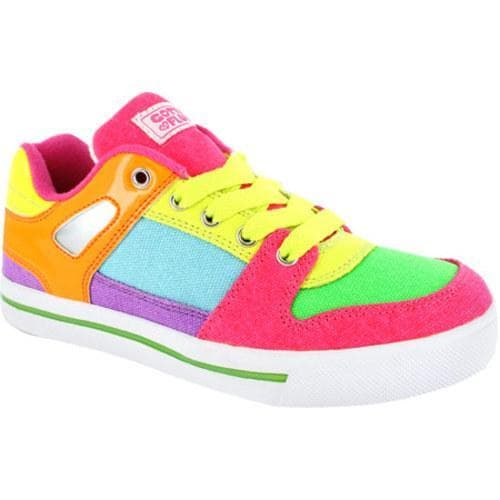 Women's Gotta Flurt Break Down Neon Canvas Shoes - Multi - Thumbnail 0