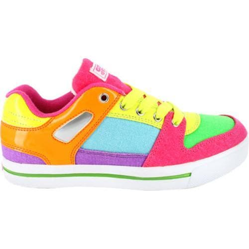 Women's Gotta Flurt Break Down Neon Canvas Shoes - Multi - Thumbnail 1