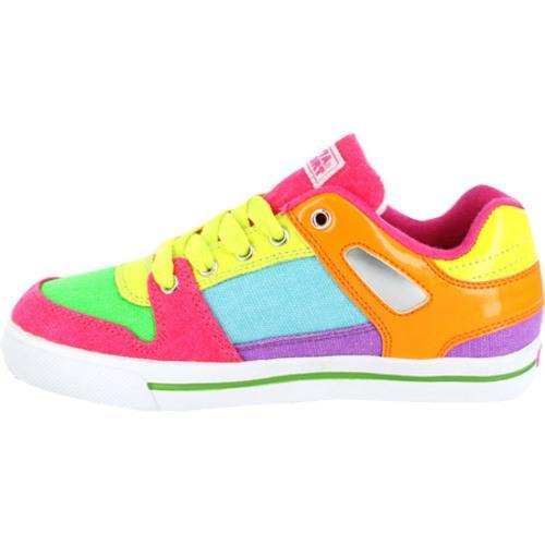 Women's Gotta Flurt Break Down Neon Canvas Shoes - Multi - Thumbnail 2