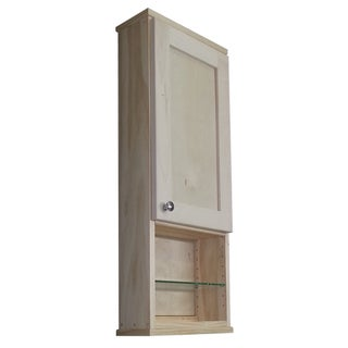 Shaker Series 30-inch Unfinished 12-inch Open Shelf On The Wall Cabinet