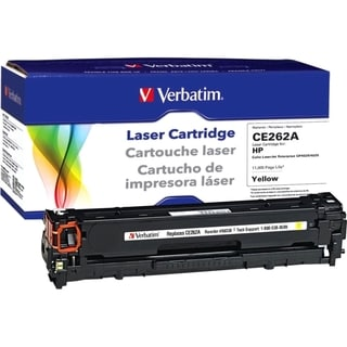 Verbatim HP CE262A Yellow Remanufactured Laser Toner Cartridge - TAA