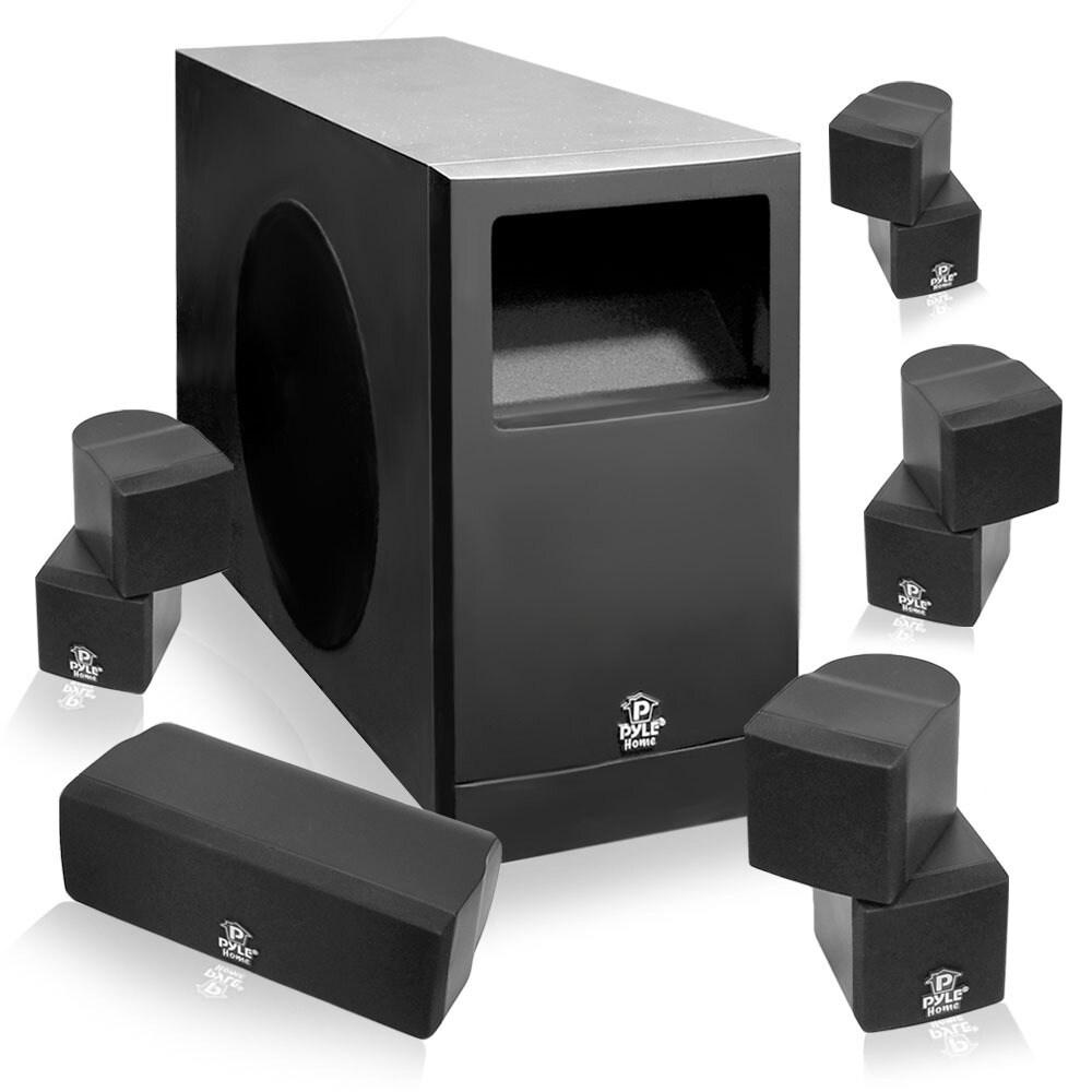 Pyle PHS51P 5.1 Speaker System - 200 W RMS - Piano Black ...