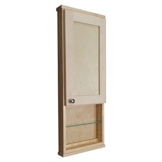 Shaker Series 48-inch Unfinished 3.5-inch Deep Inside Open Shelf On The Wall Cabinet