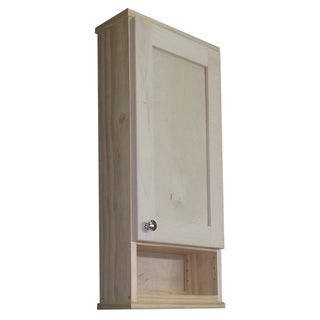 Shaker Series 24-inch Unfinished 5.5-inch Deep Inside Open Shelf On The Wall Cabinet