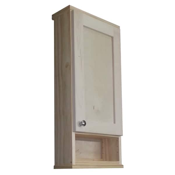 Shaker Series 30 Inch Unfinished 6 Open Shelf On The Wall Cabinet