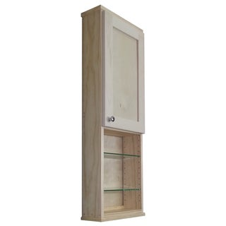 Shaker Series 42-inch Unfinished 5.5-inch Deep Inside 18-inch Open Shelf On The Wall Cabinet