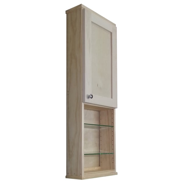 inch deep wall cabinets shop shaker series 42 inch unfinished 5 5 inch inside 18