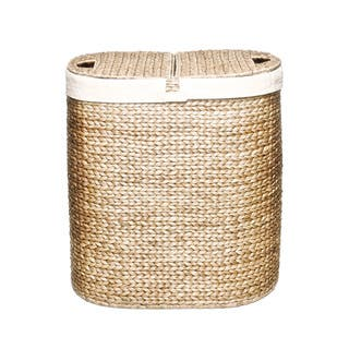 Seville Classics Hand-woven Oval Hyacinth Double Hamper|https://ak1.ostkcdn.com/images/products/8178981/8178981/Seville-Classics-Hand-woven-Oval-Hyacinth-Double-Hamper-P15516432.jpg?impolicy=medium