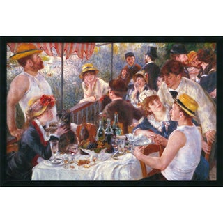 Pierre-Auguste Renoir 'Luncheon of the Boating Party, 1881' Framed Art Print with Gel Coated Finish (37 x 25-inch)