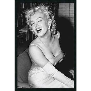 Framed Art Print Marilyn Monroe Smiling 26 x 38-inch