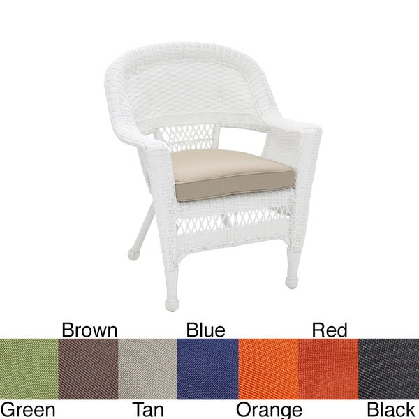 Shop White Wicker Chair With Cushion On Sale Free