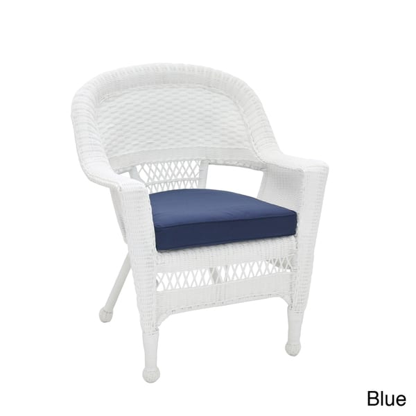 Astonishing Shop White Wicker Chair With Cushion On Sale Free Ncnpc Chair Design For Home Ncnpcorg