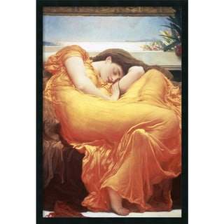 Lord Frederic Leighton 'Flaming June' Framed Art Print with Gel Coated Finish (25 x 37-inch)
