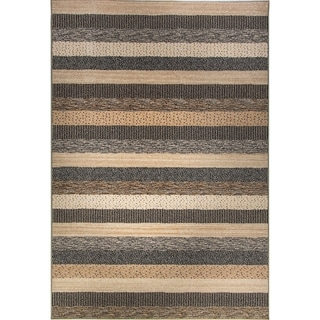 Eternity Striped Natural Rug (7'10 x 11'2) - 7'10 x 11'2