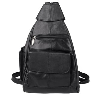 Journee Collection Women's Leather Triangle Backpack