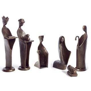 Nativity 6-Piece Bronze Set Sculpture