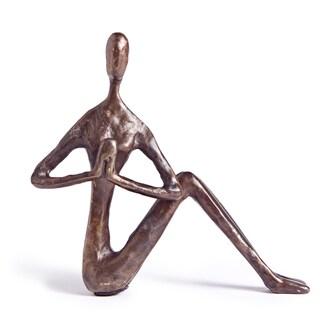 Female Yoga Twist Bronze Sculpture
