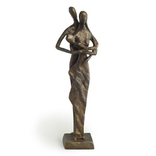 Couple with Baby Bronze Sculpture