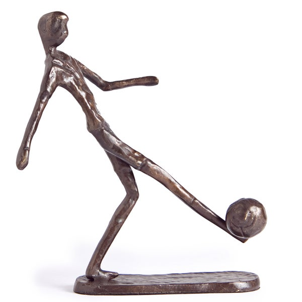Soccer Player Bronze Sculpture
