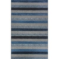 Eternity Striped Blue Rug - 7'10 X 11'2