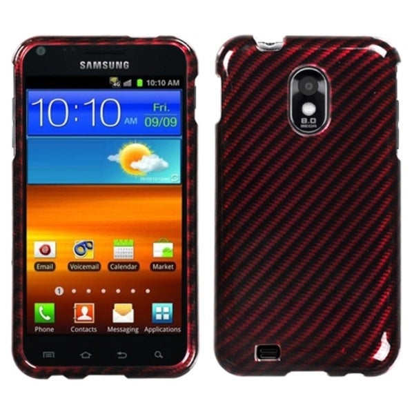 INSTEN Racing Fiber/ Red Silver Phone Case Cover for Samsung Epic 4G Touch