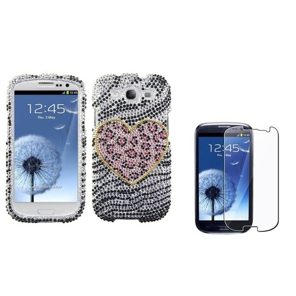 BasAcc Diamante Case/ LCD Protector for Samsung Galaxy S3/ S III i9300