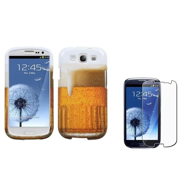 BasAcc Beer Case/ Screen Protector for Samsung Galaxy S3/ S III i9300