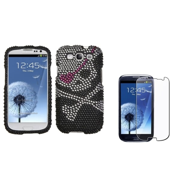BasAcc Diamante Case/ LCD Protector for Samsung Galaxy S3/ S III i9300