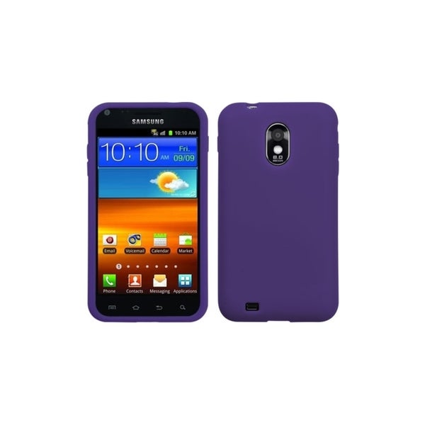 INSTEN Solid Purple Skin Phone Case Cover for Samsung Epic 4G Touch/ Galaxy S II