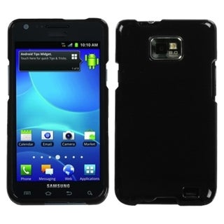 INSTEN Solid Black Protector Phone Case Cover for Samsung Galaxy S2 I777