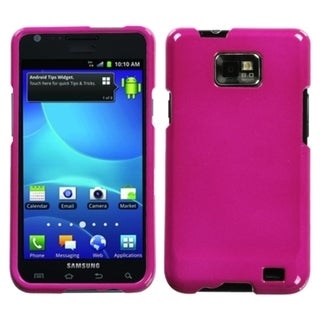 INSTEN Solid Hot Pink Protector Phone Case Cover for Samsung Galaxy S2 I777