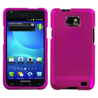 INSTEN Titanium Solid Hot Pink Phone Case Cover for Samsung Galaxy S2 I777