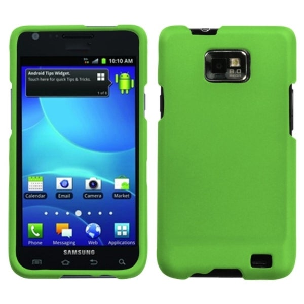 INSTEN Green Rubber Coated Protector Phone Case Cover for Samsung Galaxy S2 I777