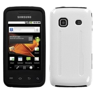 INSTEN Solid Ivory White/ Black Phone Case Cover for Samsung Galaxy Prevail M820