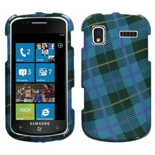 INSTEN Blue Plaid Weave Protector Phone Case Cover for Samsung Focus I917