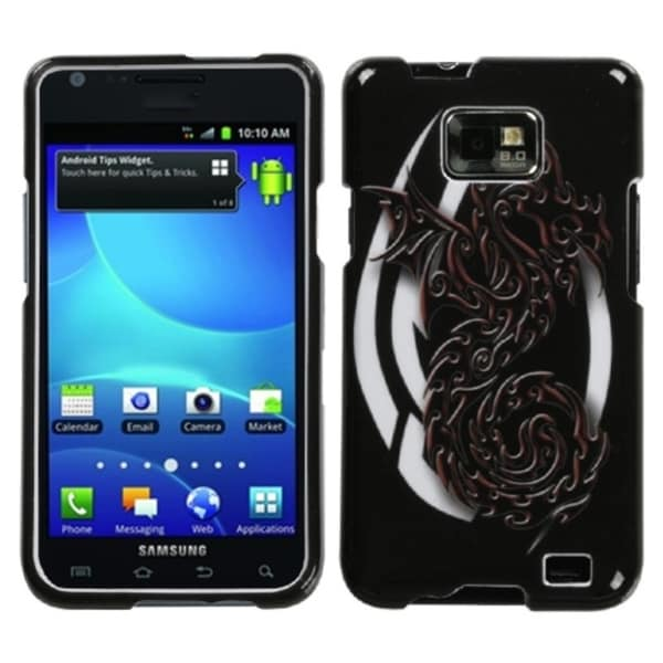 INSTEN Firebrand Dragon Protector Phone Case Cover for Samsung Galaxy S2 I777