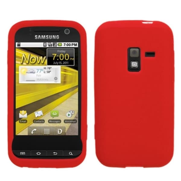INSTEN Solid Red Skin Phone Case Cover for Samsung Conquer 4G/ Galaxy Attain 4G