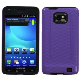 INSTEN Purple/ Black Fusion Protector Phone Case Cover for Samsung Galaxy S2 I777