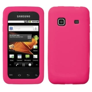 INSTEN Solid Hot Pink Skin Phone Case Cover for Samsung Galaxy Prevail M820