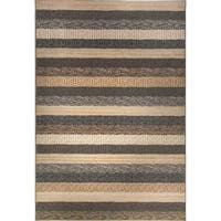 Eternity Striped Natural Rug - 5'3 x 7'7