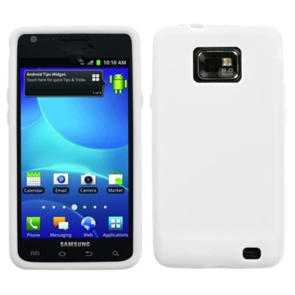 INSTEN Solid White Skin Phone Case Cover for Samsung Galaxy S2 I777