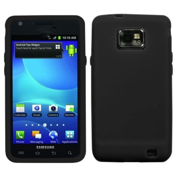 INSTEN Solid Black Skin Phone Case Cover for Samsung Galaxy S2 I777