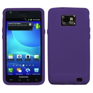 INSTEN Solid Purple Skin Phone Case Cover for Samsung Galaxy S2 I777