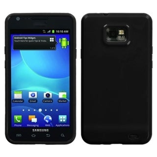 INSTEN Solid Black Candy Skin Phone Case Cover for Samsung Galaxy S2 I777