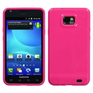 INSTEN Solid Hot Pink Candy Skin Phone Case Cover for Samsung Galaxy S2 I777