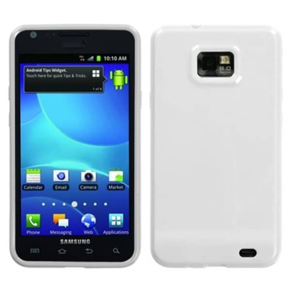 INSTEN Solid Ivory White Candy Skin Phone Case Cover for Samsung Galaxy S2 I777