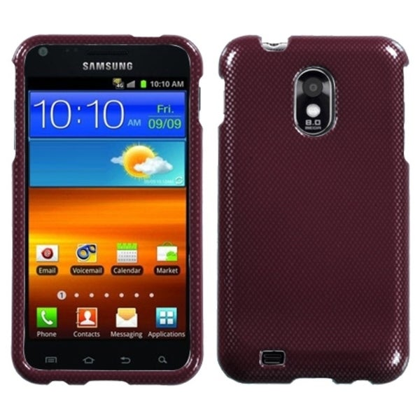 INSTEN Red Carbon Fiber Phone Case Cover for Samsung Galaxy S2/ Epic 4G Touch