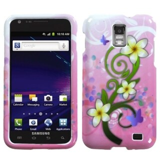 INSTEN Tropical Flowers Phone Case Cover for Samsung Galaxy S2 Skyrocket I727